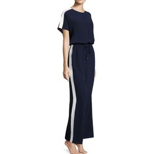 NWOT Tory Burch Colorblock Navy/White Jumpsuit